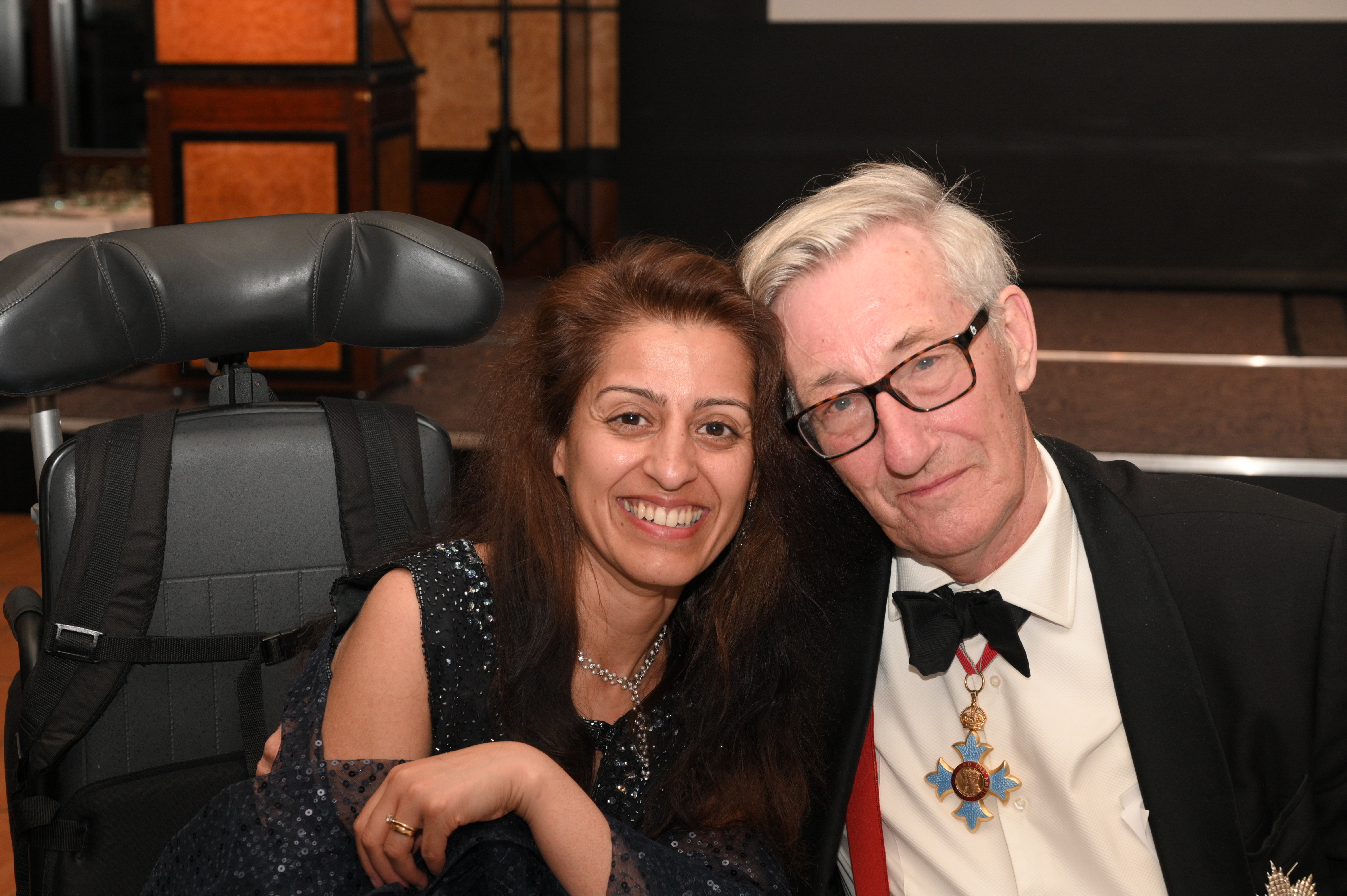 Dr Afsana Elanko with Professor Sir Michael Rawlins