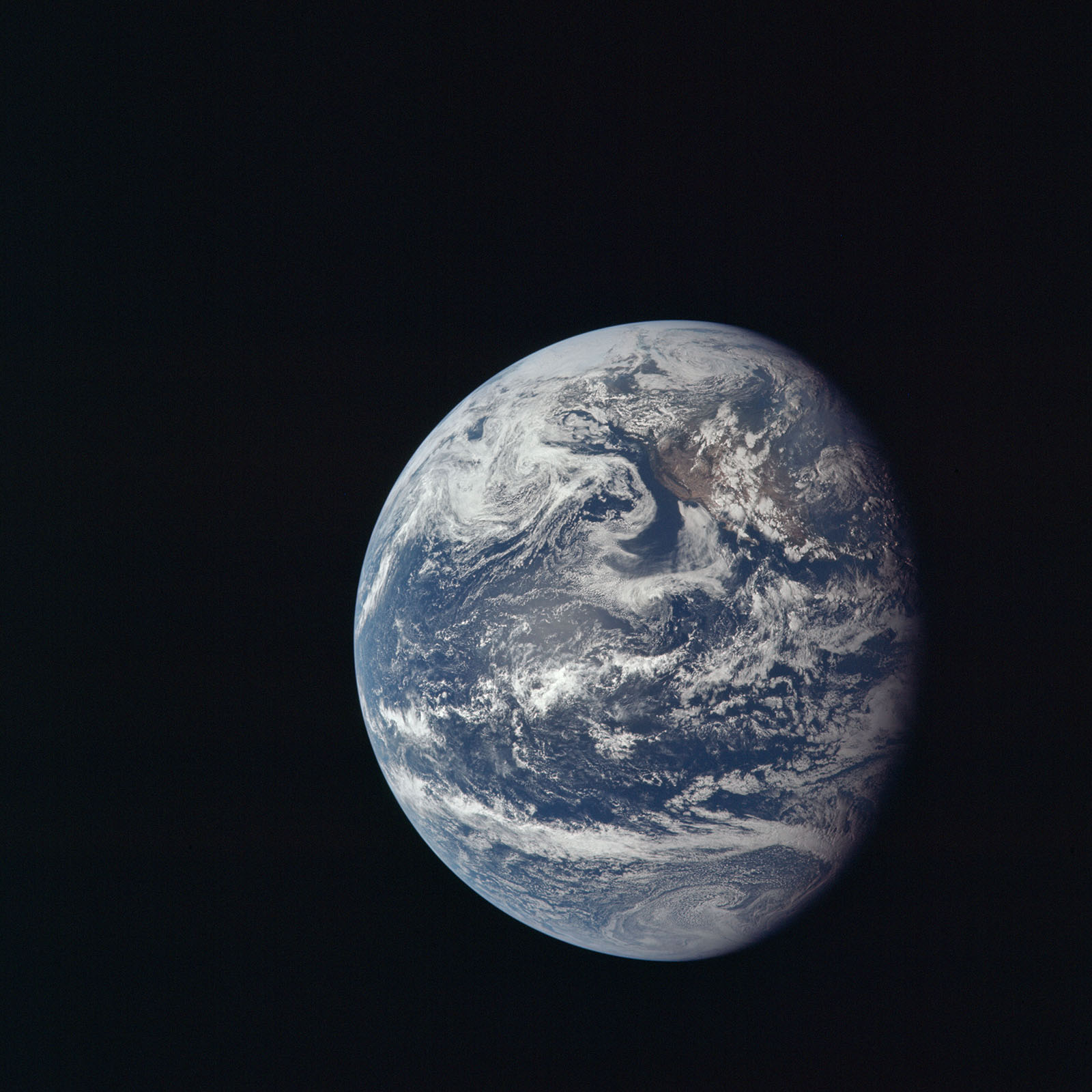 View of Earth taken by Apollo 11 crew members. Image courtesy of NASA.